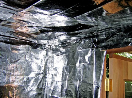 Потолок сауны