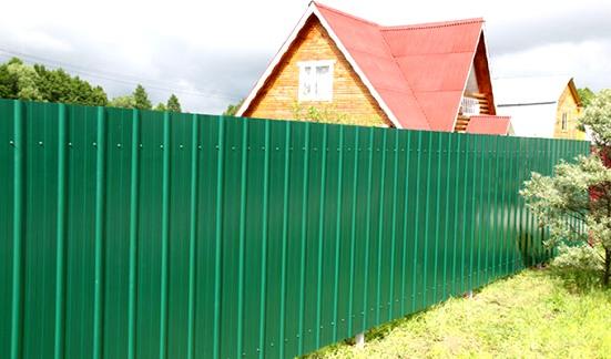 Забор из профнастила своими руками, Строительный портал