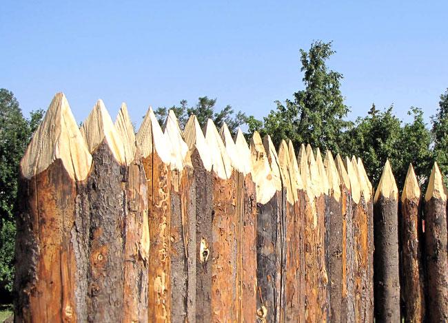 Сделать кол из дерева