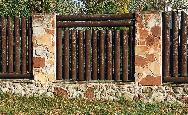 Оригинальный забор из дерева своими руками
