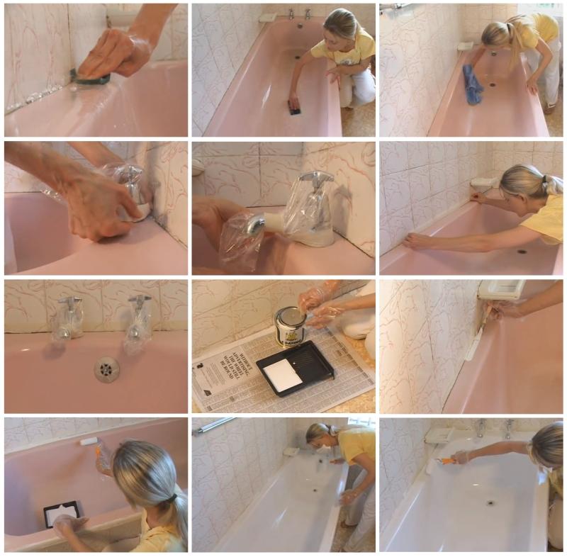 Чем красить ванну в домашних условиях