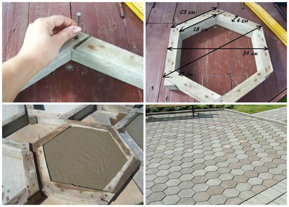 Как сделать форму тротуарную плитку своими руками