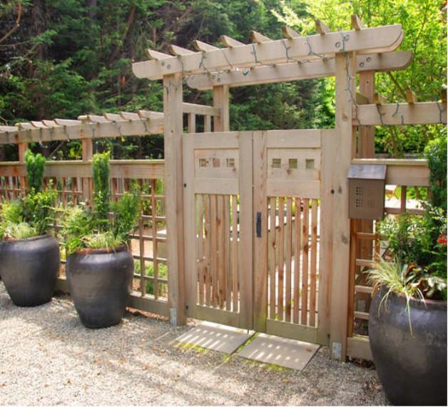 Ворота для садового участка своими руками 67