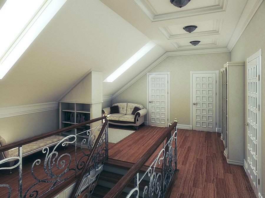 Дизайн дома второго этажа