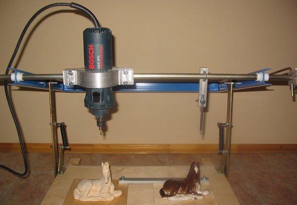 Копировальный станок для фрезера своими руками