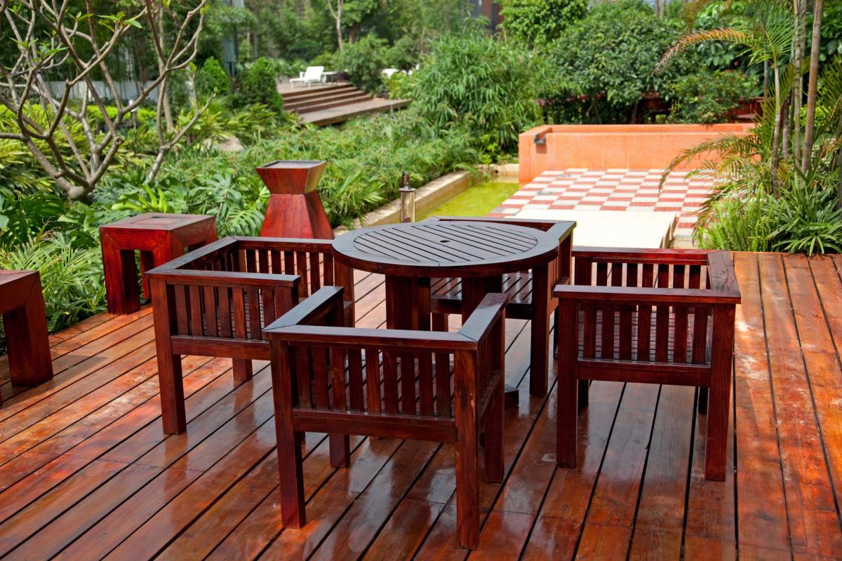 Стол на террасу деревянный своими руками