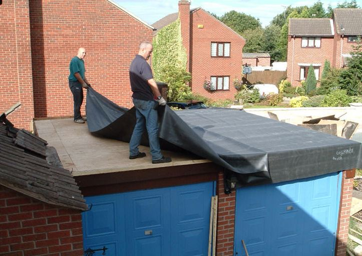Крыша гаража односкатная 143