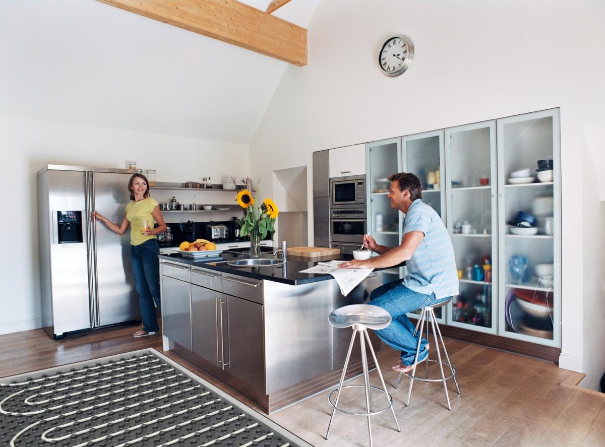 Теплый пол на кухню. Выбор и особенности установки