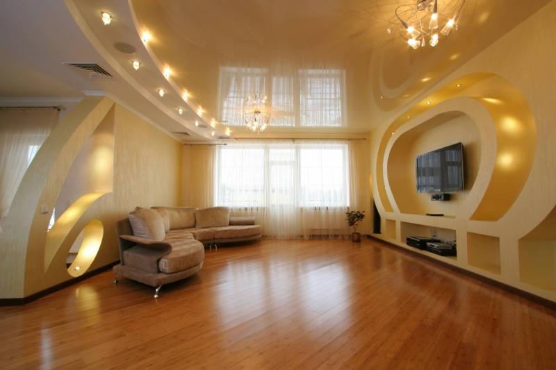 Навесной потолок из гипсокартона своими руками фото зала фото 157