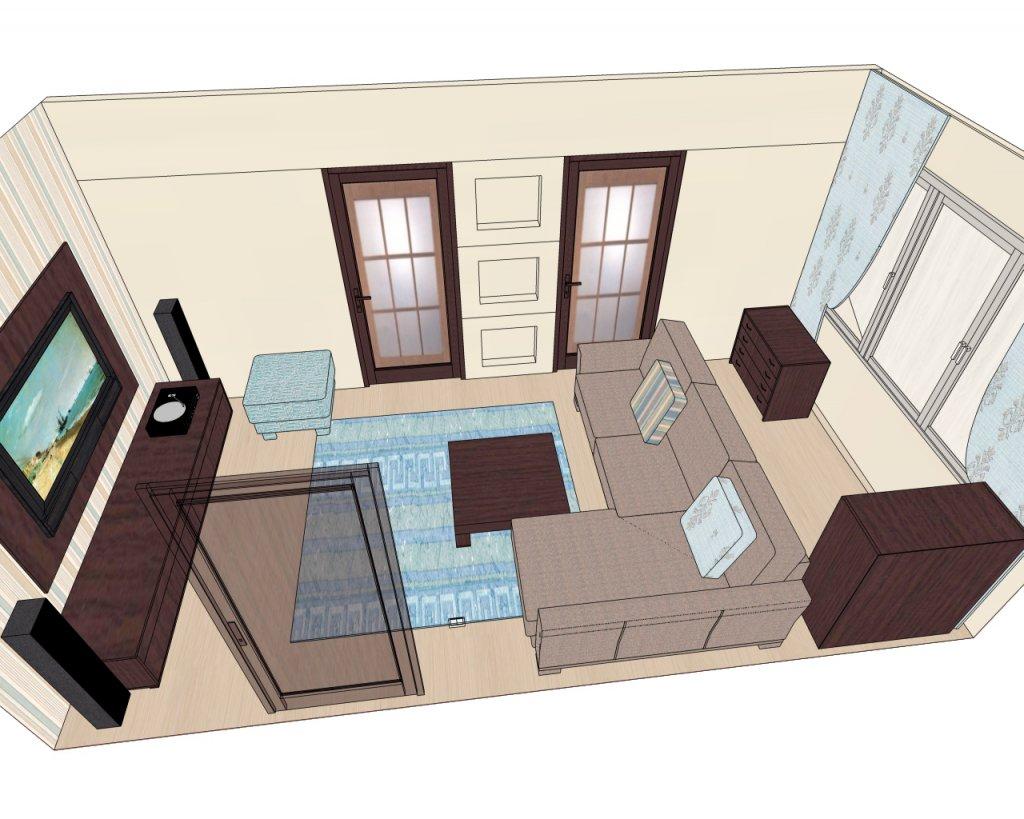 как расставить мебель в гостиной фото