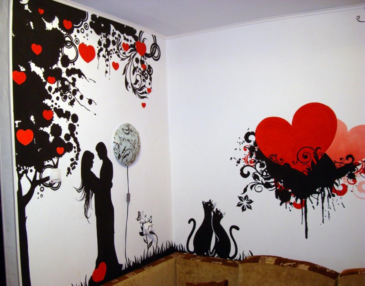 Дизайн стен красками
