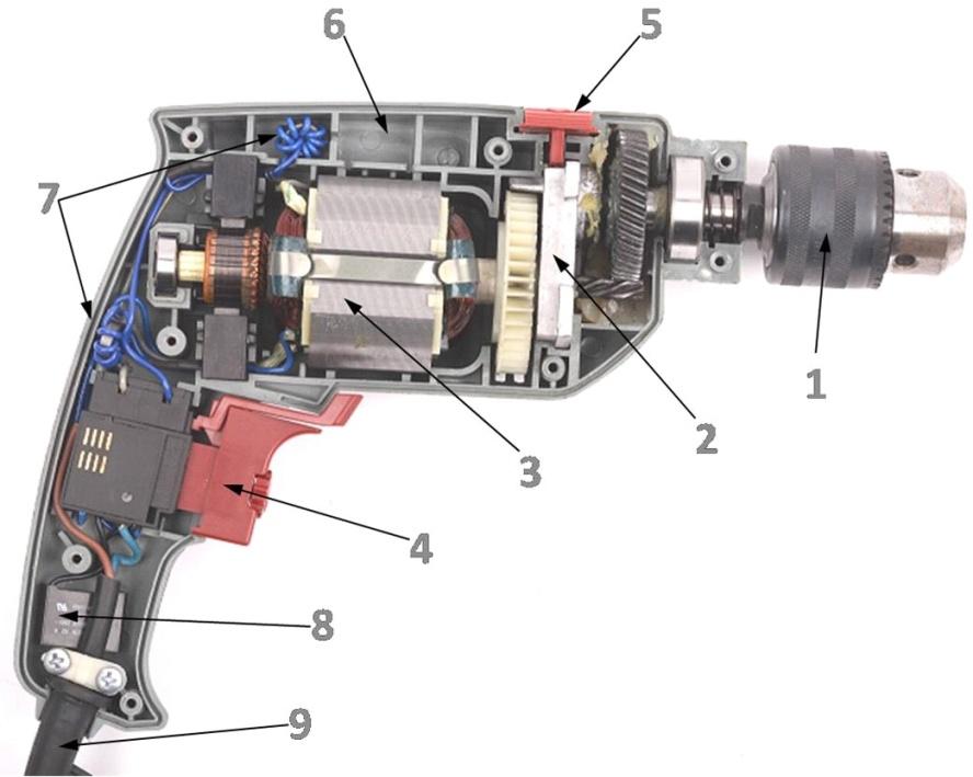 дрель ударная интерскол устройство