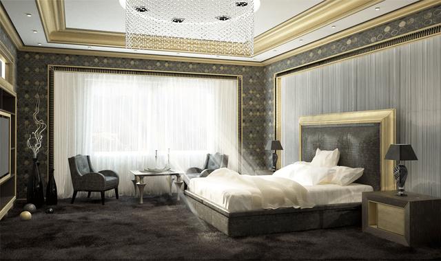 Дизайн спальни в стиле арт деко фото