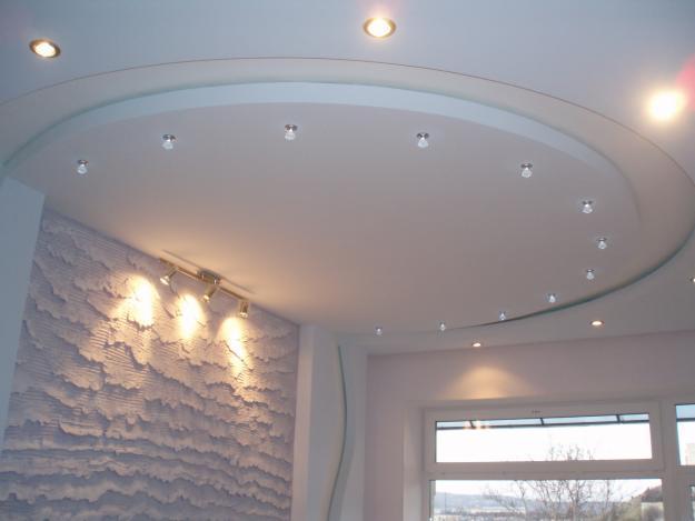 фигурные потолки фото из гипсокартона