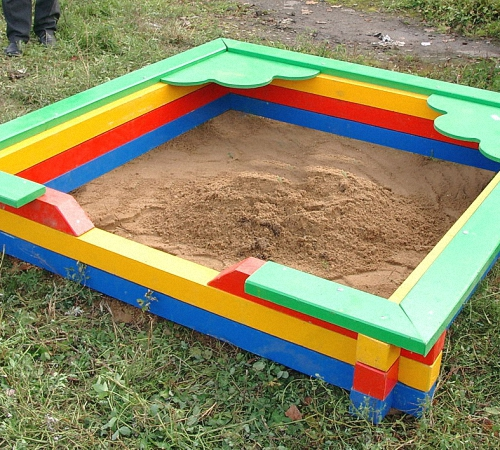 Песочница дома своими руками