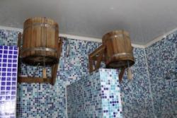 Душевая кабина в бане своими руками