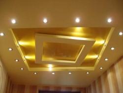 Как делают потолок из гипсокартона с подсветкой