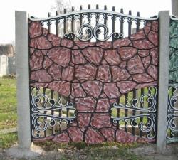 покраска бетонных заборов фото