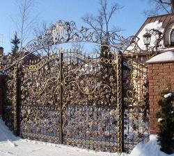 Кованые ворота своими руками