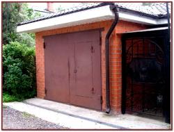 Ворота на гараж подъёмные своими руками фото