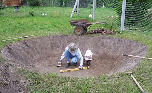 Водоем для сада своими руками фото