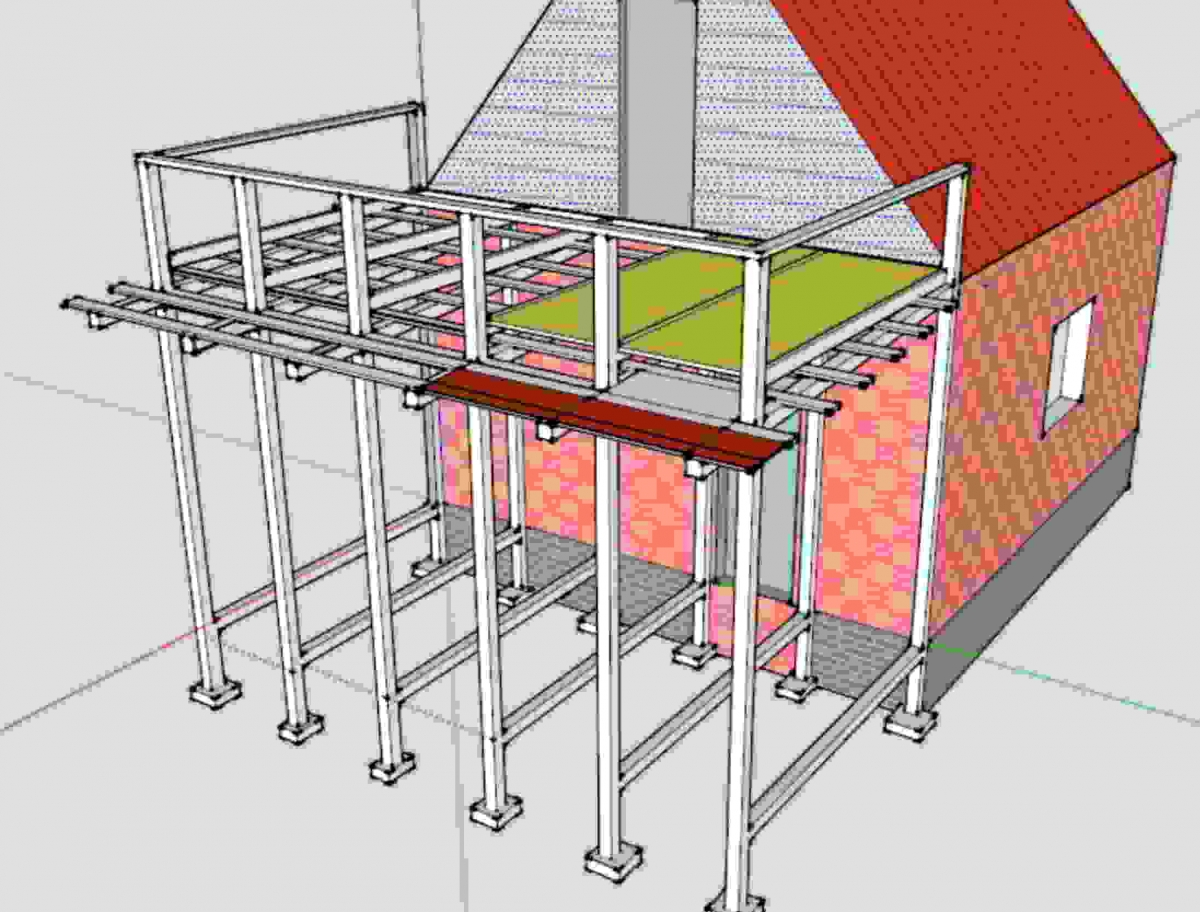 Конструкция балкона загородного дома.