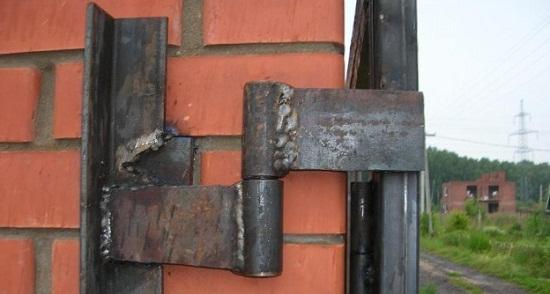 Ворота на завсах железная ворота каталог фото