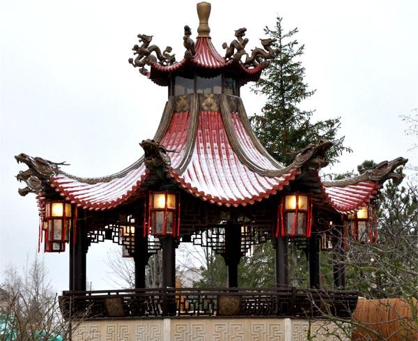 Китайская крыша своими руками