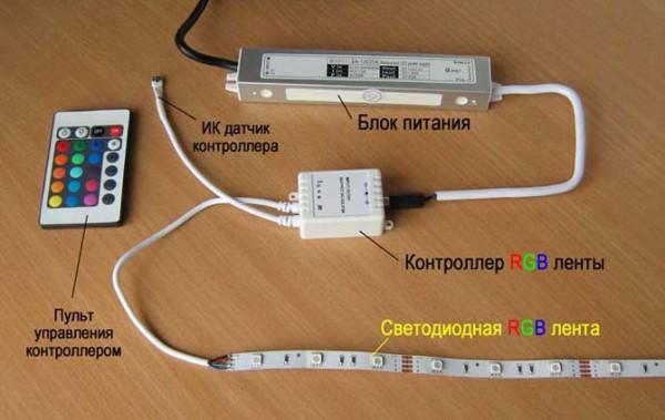 Светодиодная лента своими руками 220в