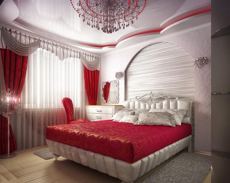 Шторы для красной спальни