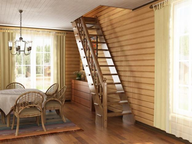 Как построить деревянную лестницу на второй этаж 41