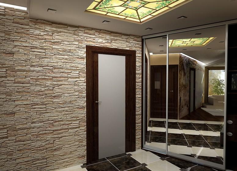 Декоративный камень в коридоре своими руками 5