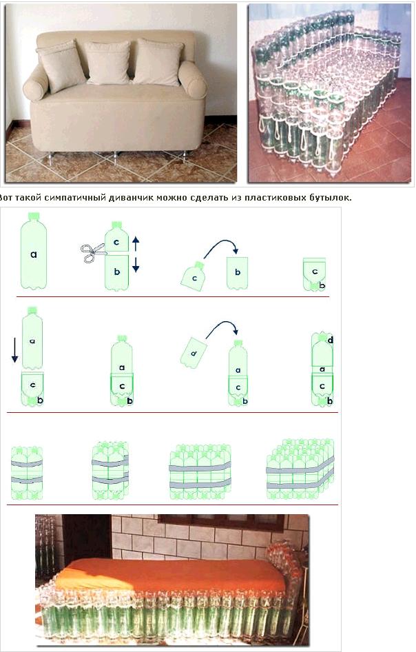 Мебель из бутылок пластиковых своими руками для сада