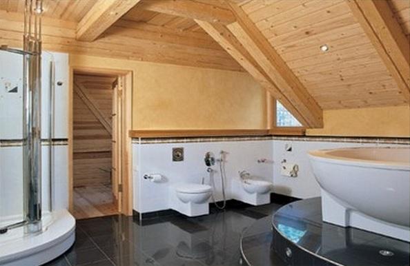 Интерьер ванной в частном доме своими руками