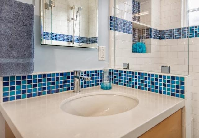 Ванная комната дизайн плитка с мозаикой в ванной