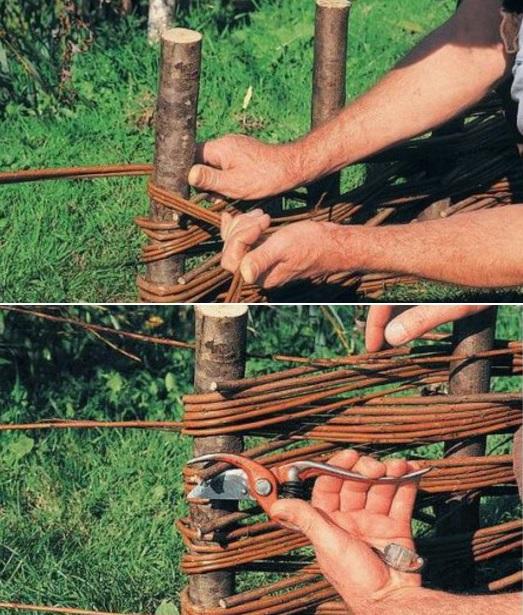 Как своими руками сплести забор
