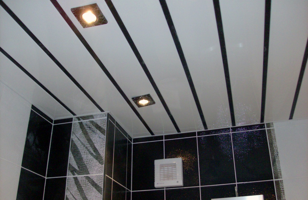 фото пластиковые панели для потолка