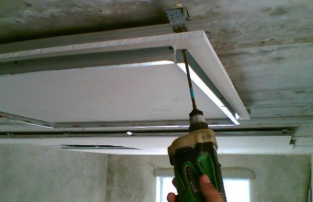 Изготовление потолков из гипсокартона своими руками