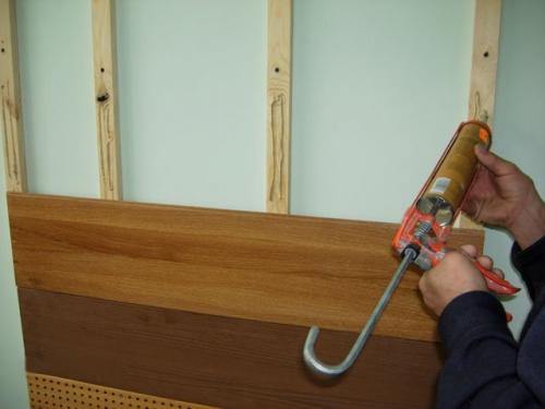 Обшивка стен ламинатом