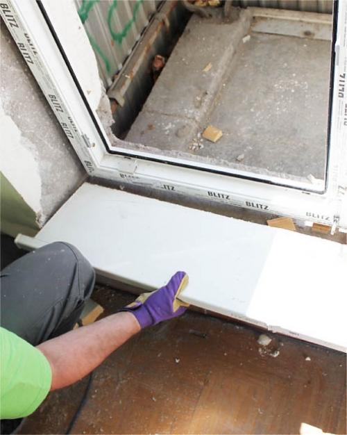 Как установить порог балконной двери из пвх.