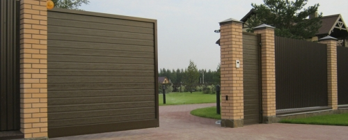 Металлические ворота с калиткой