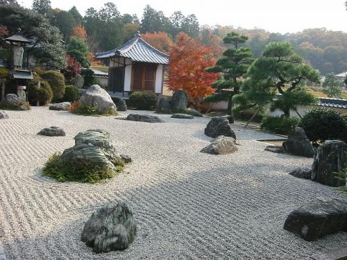 Японский сад камней фото