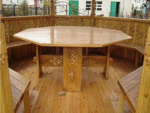 Деревянный стол в беседку своими руками, Строительный портал
