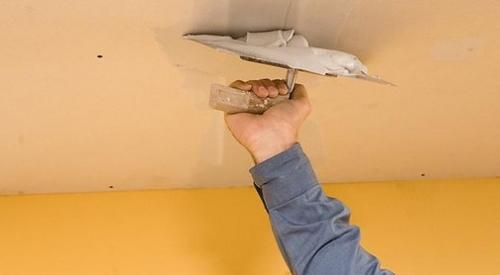 Шпаклевка потолка под покраску своими руками