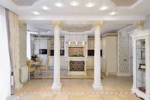 Колонны в интерьере квартиры: фото-идеи, примеры, Строительный портал