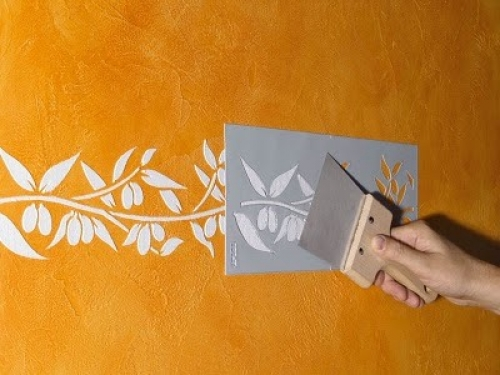 Узоры на стене своими руками