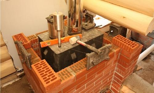 Как обложить кирпичом железную печь