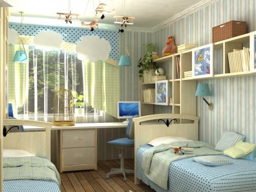 Дизайн детской комнаты для двух детей, Строительный портал