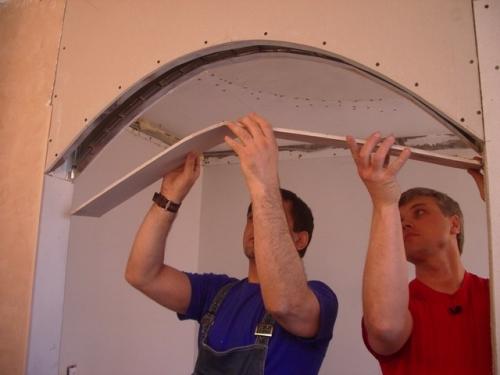 Как вместо двери сделать арки, Строительный портал