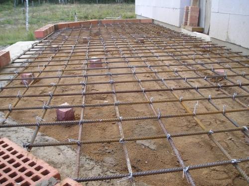 Армирование монолитного фундамента для террасы